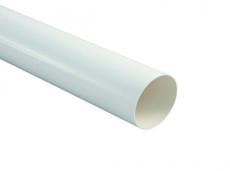 белая пластиковая водосточная труба