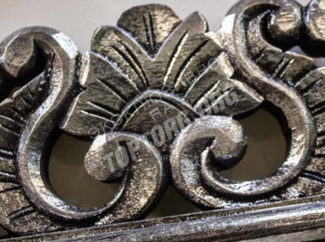 большое зеркало в раме 940x2000 мм, цвет серебро, патина, классика
