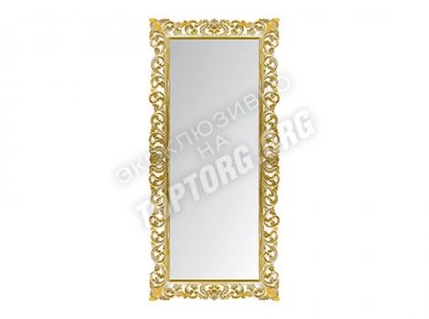 большое зеркало 940x2000 в резной раме золото с патиной
