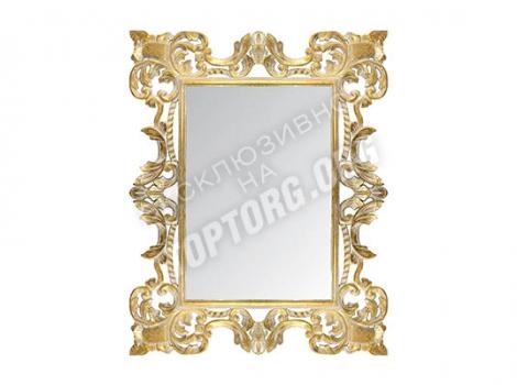 большое зеркало в раме 900х1200 мм, цвет золото, белая патина