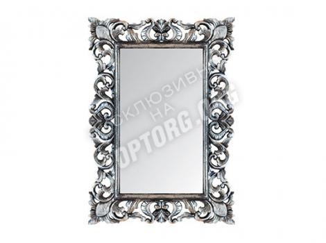 Зеркало в раме Верона цвет серебро черная патина 700x1000 мм