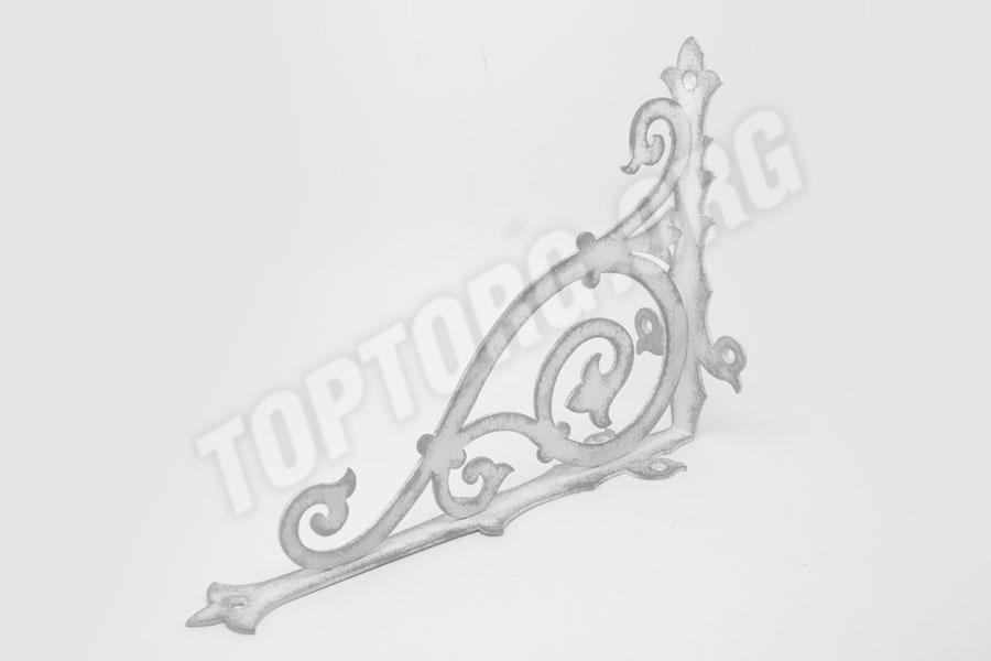 кронштейн для полок с серебряной патиной