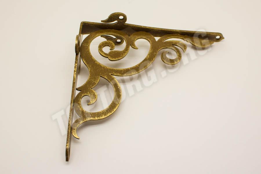 кронштейны для полок античное золото