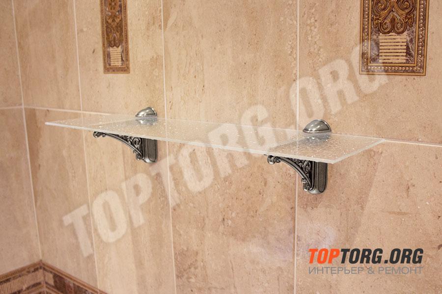 стеклянная полка в ванную