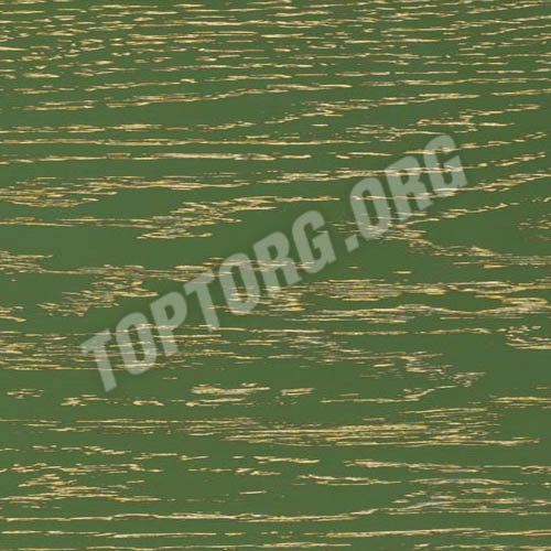 Стол кухонный - цвет зеленый с золотой патиной