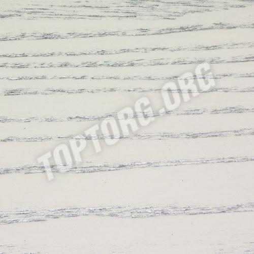 Стол кухонный - цвет белый, патина серебро
