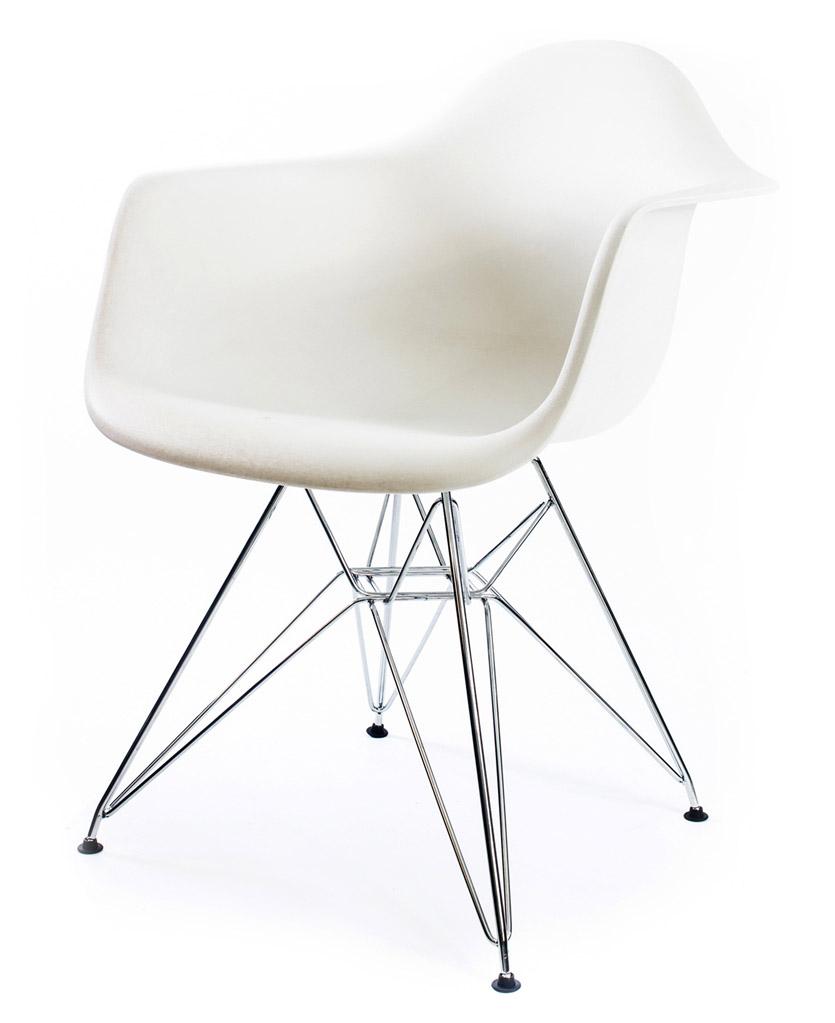 белый дизайнерский стул Eames DAR
