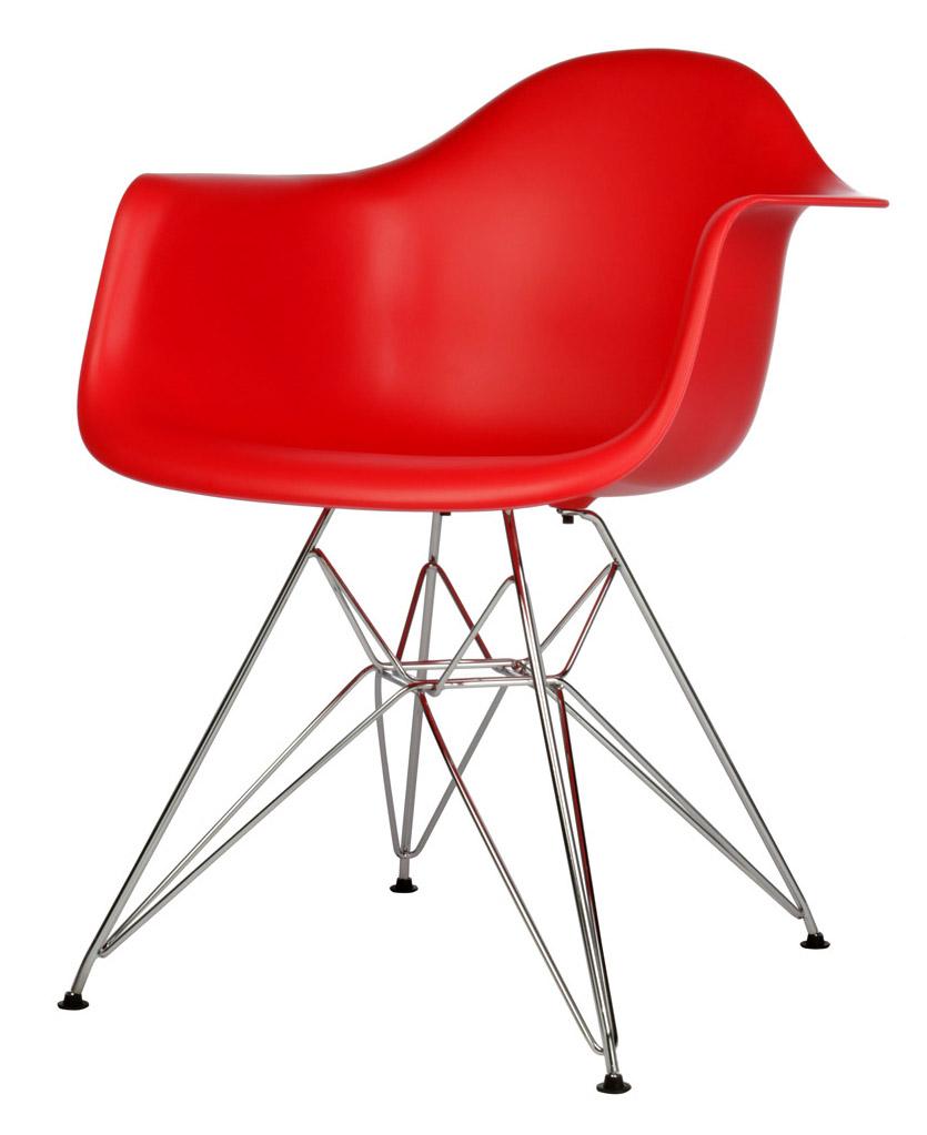 красный дизайнерский стул Eames DAR