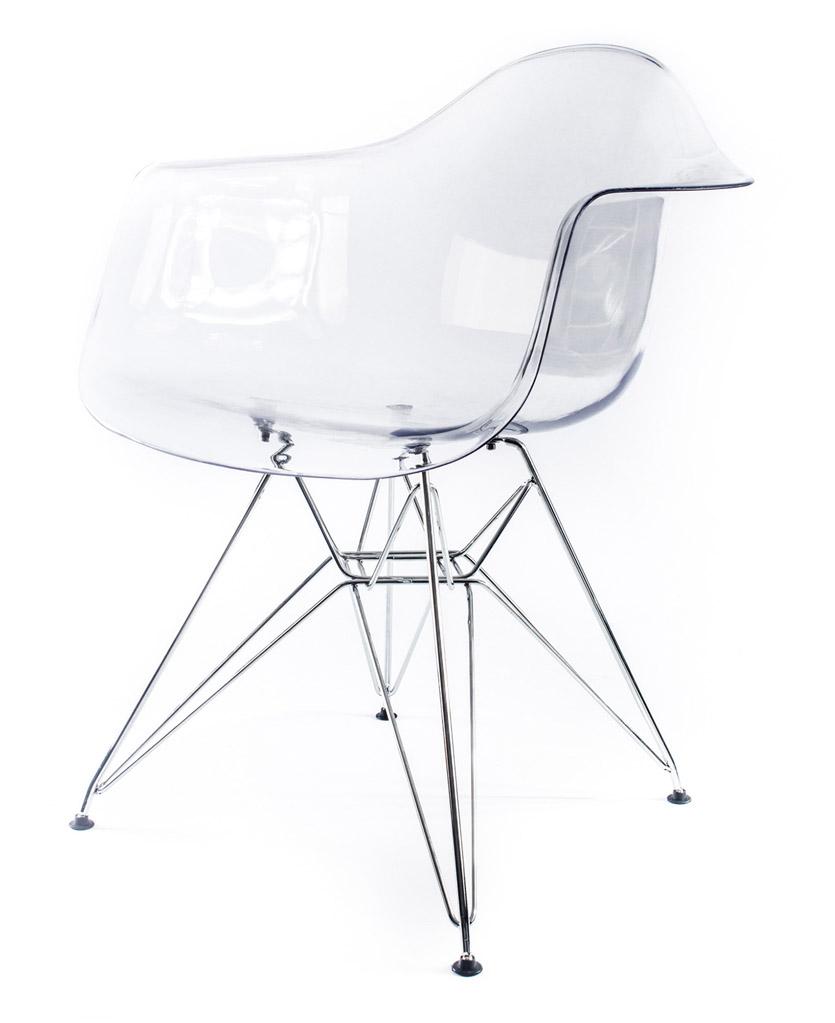 прозрачный дизайнерский стул Eames DAR