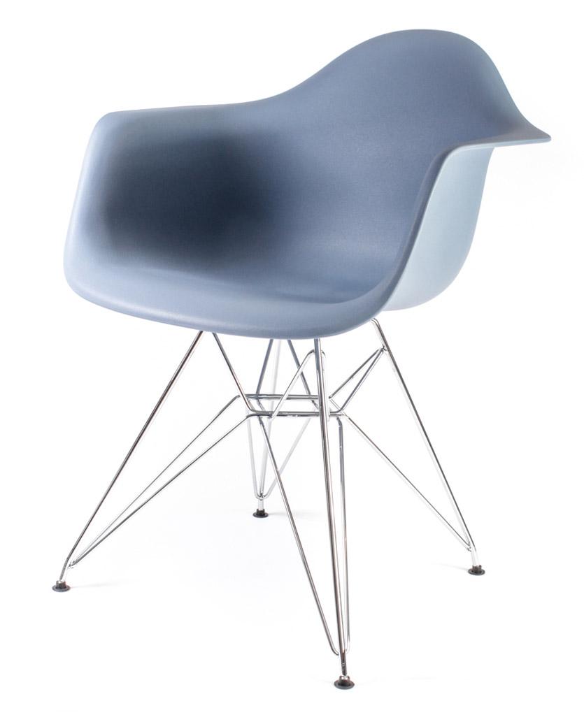 серо-голубой дизайнерский стул Eames DAR