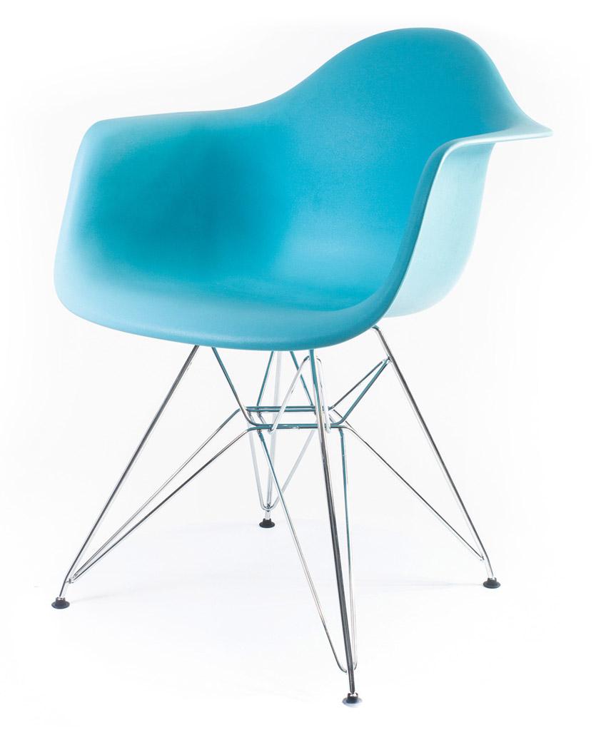 дизайнерский стул Eames DAR цвет синий океан