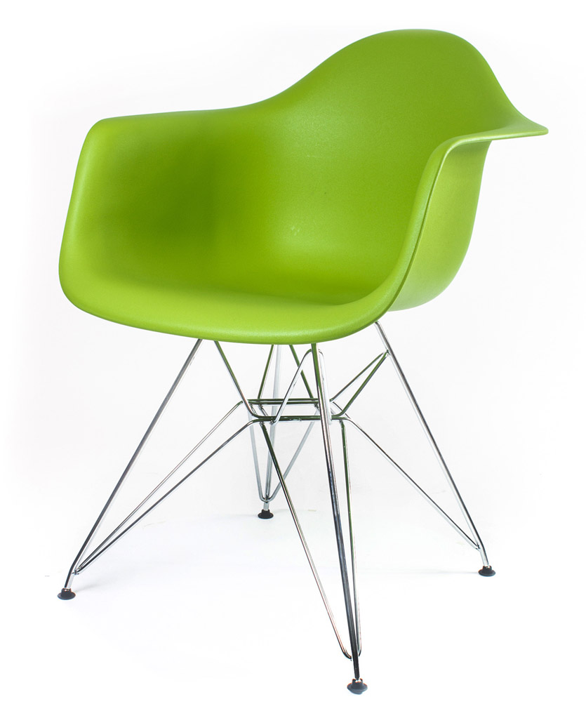зелёный дизайнерский стул Eames DAR