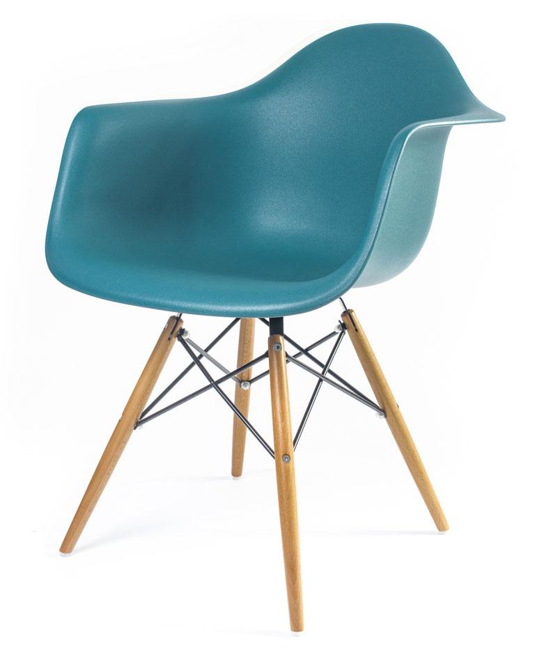 дизайнерский стул Eames DAW цвет морская волна
