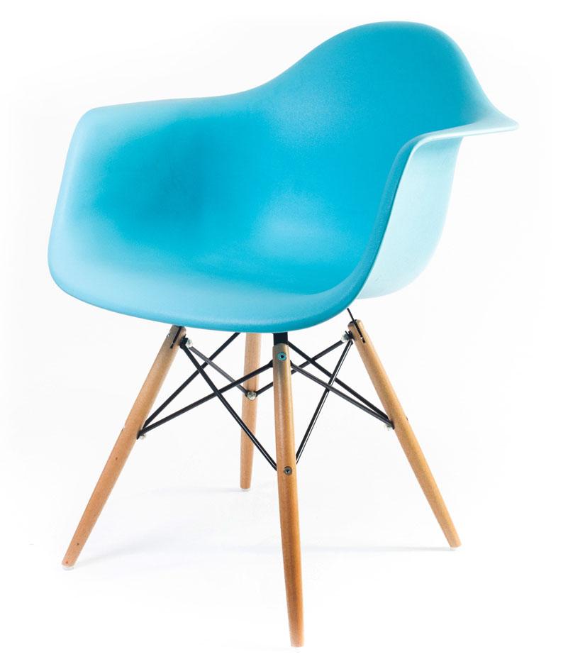дизайнерский стул Eames DAW цвет синий океан
