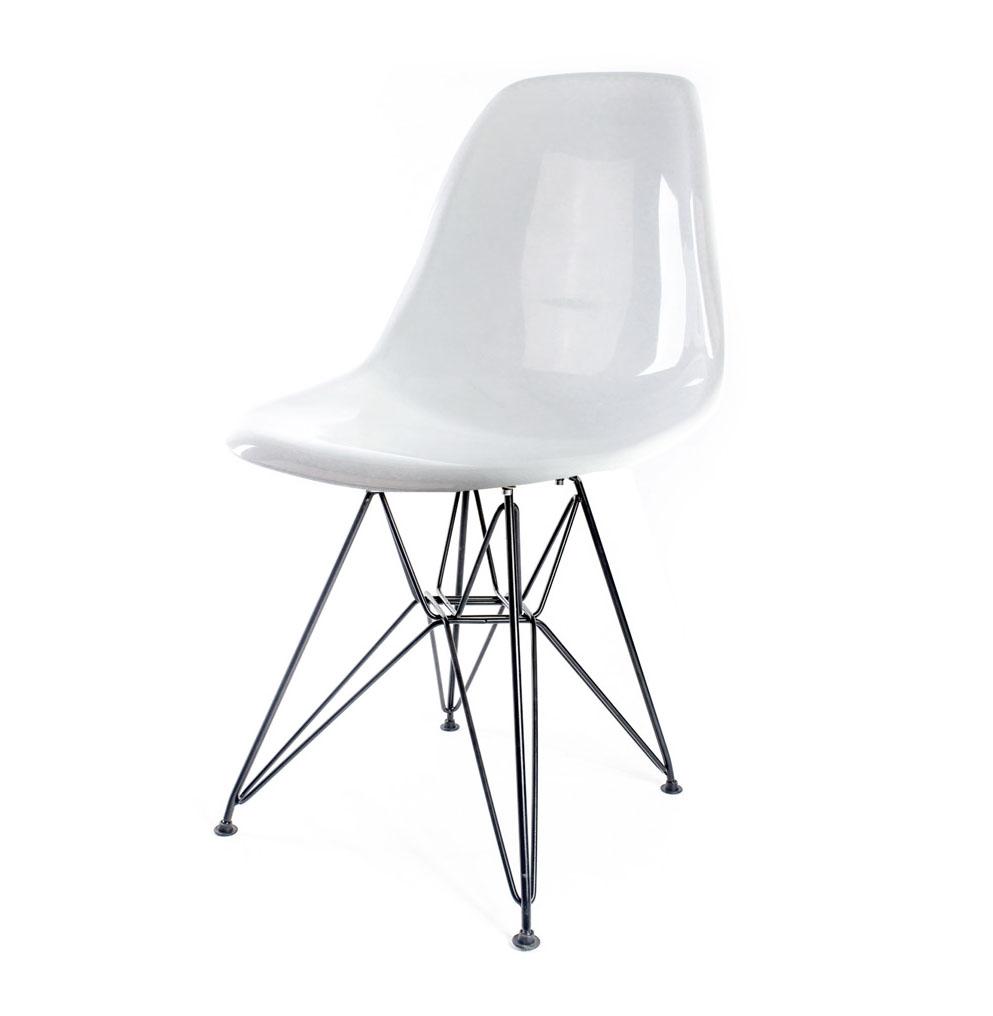 стул Eames DSR белый глянец
