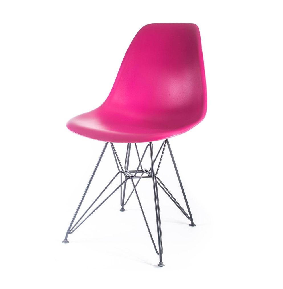 стул Eames DSR розовый