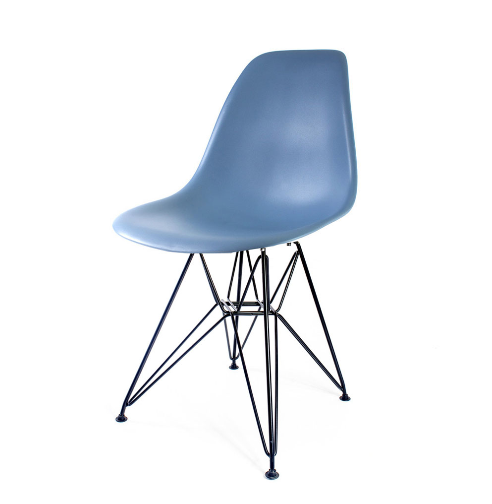 стул Eames DSR серо-голубой