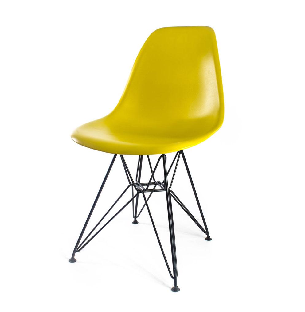 стул Eames DSR желто-оливковый