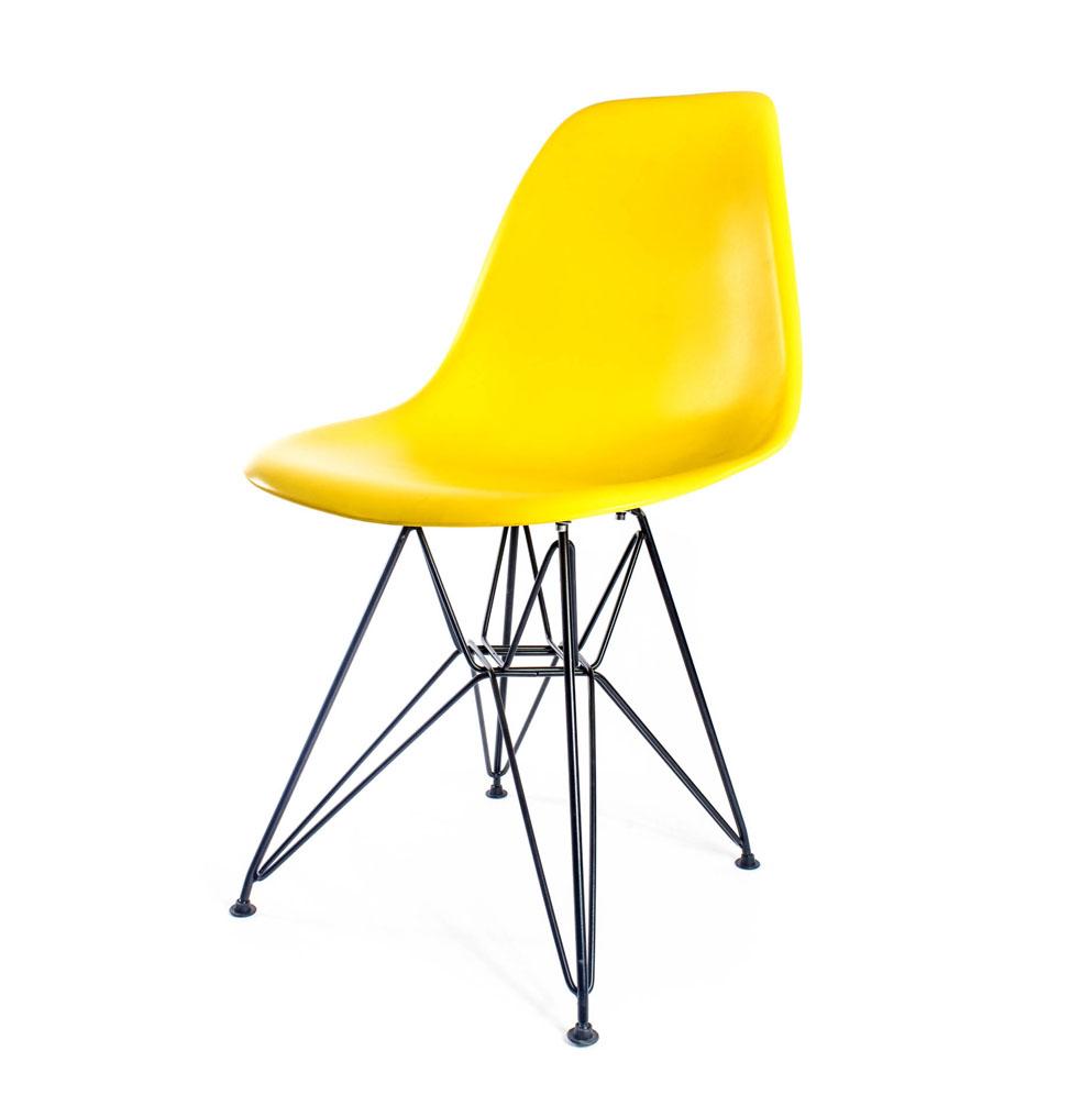 стул Eames DSR желтый