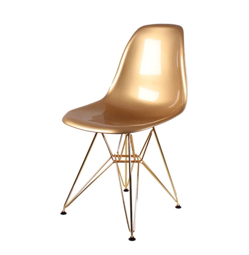 стул Eames DSR золотой