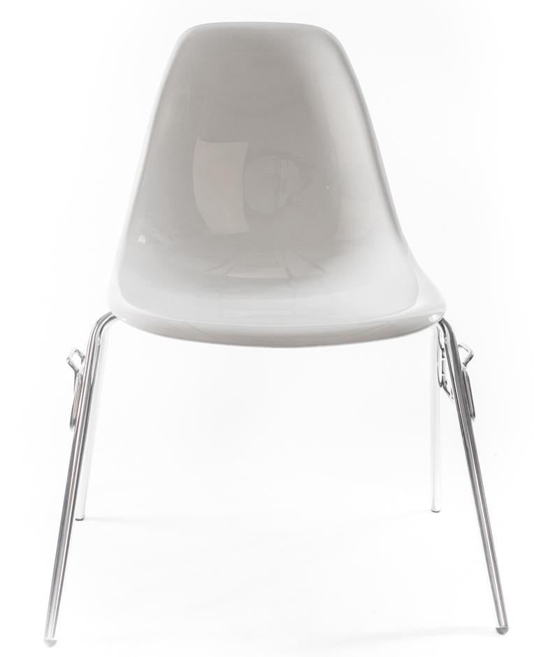 оранжевый дизайнерский стул Eames DSS-N
