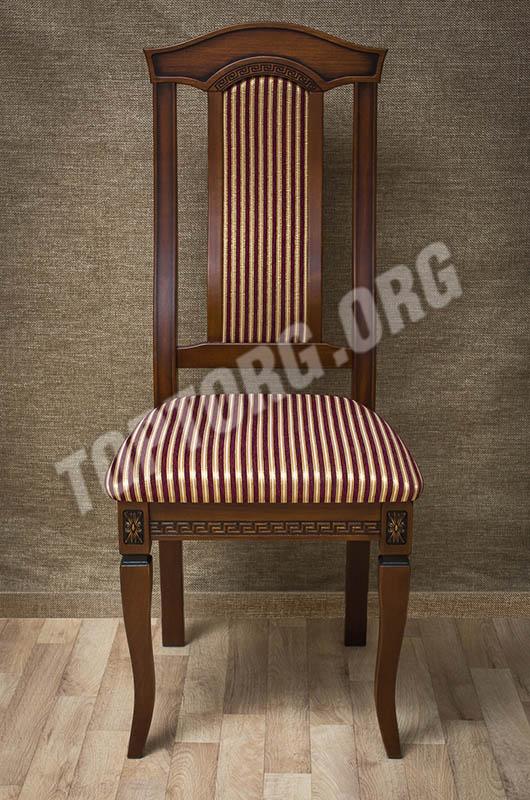 стул орех ткань в полоску