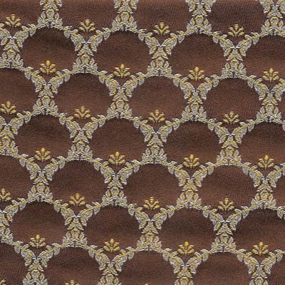 10. Ткань для обивки кухонного стула Жаккард ренессанс золотой