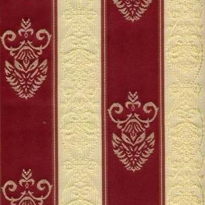 11. Ткань для обивки кухонного стула Жаккард полоса бордовая