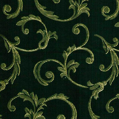 06. Ткань для обивки кухонного стула Жаккард пратто зелёный