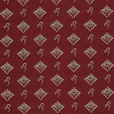 07. Ткань для обивки кухонного стула Жаккард ромб красный
