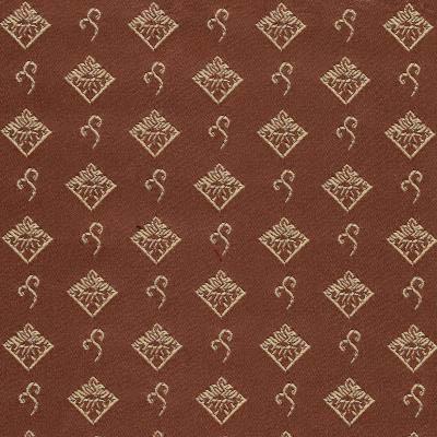 08. Ткань для обивки кухонного стула Жаккард ромб коричневый