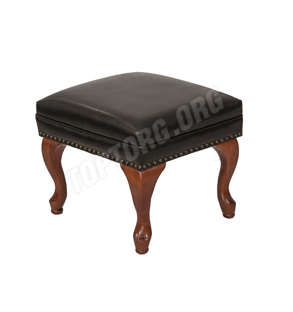 Дизайнерское кресло Wingback chair James Brooke черная кожа