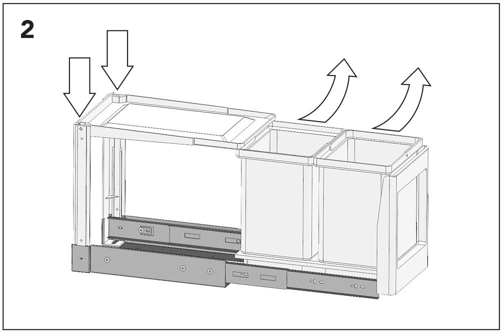 ведро для мусора выдвижное инструкция по установке
