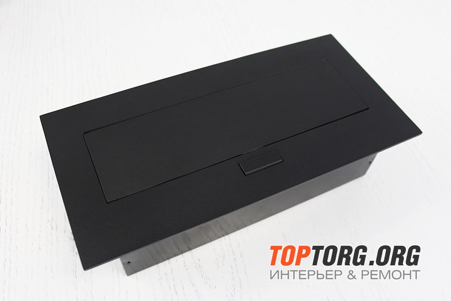 Встраиваемая выдвижная горизонтальная розетка в столешницу - GTV AE-PB03GS-20