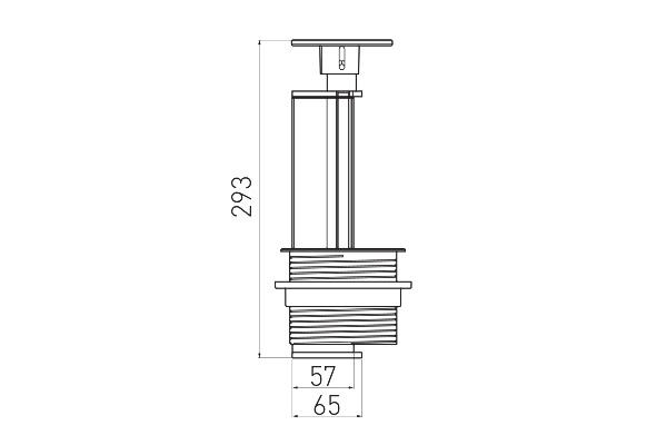 Встраиваемая выдвижная вертикальная розетка в столешницу - GTV AE-BPW3GU-20