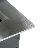 Встраиваемая выдвижная горизонтальная розетка в столешницу - нержавеющая сталь
